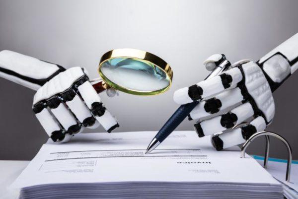 KI Digitalisierung Beleg BLU DELTA Robot